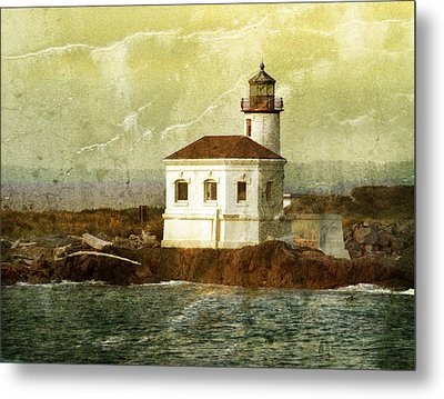 Coquille River Lighthouse Metal Print by Jill Battaglia