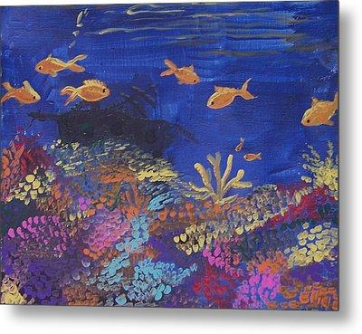 Coral Reef Garden Metal Print by Renate Pampel
