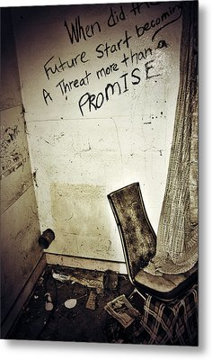 Corner Of Threat  Metal Print by JC Photography and Art