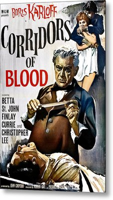 Corridors Of Blood, Boris Karloff, 1958 Metal Print by Everett