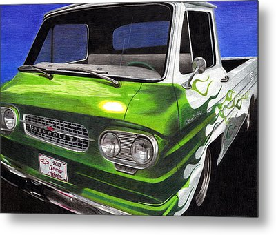 Corvair 95 Loadside Metal Print by Annie Nelson