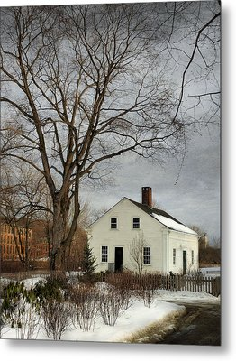Cottage By The Mill Metal Print by Robin-lee Vieira