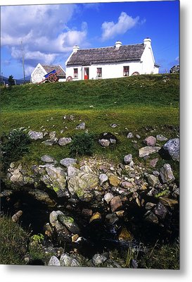 Cottage On Achill Island, County Mayo Metal Print by The Irish Image Collection