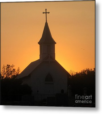 Country Church Metal Print by Kim Yarbrough