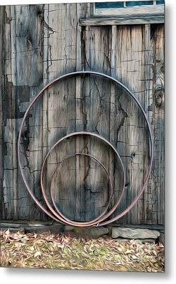 Country Rings Metal Print by Susan Candelario