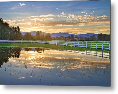 Country Sunset Reflection Metal Print by James BO  Insogna