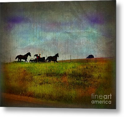 Country Wagon 2 Metal Print by Perry Webster