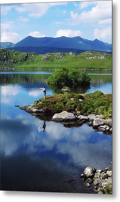 County Kerry, Ireland Fishing On Metal Print by Sici