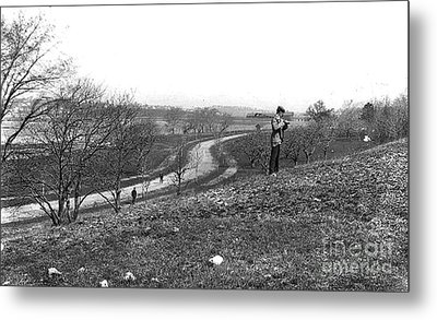 Court Road 1896 Metal Print by Extrospection Art
