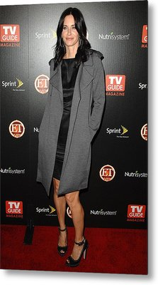 Courteney Cox At Arrivals For Tv Guides Metal Print by Everett