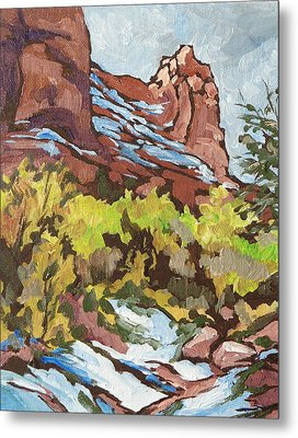 Courthouse Rock Metal Print by Sandy Tracey