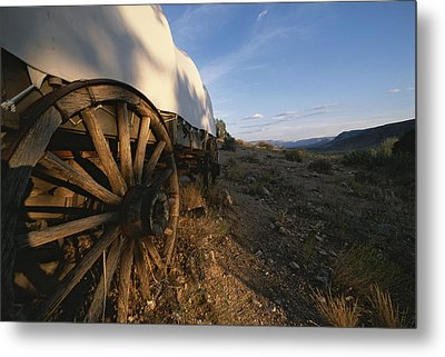 Covered Wagon At Bar 10 Ranch Metal Print by Todd Gipstein