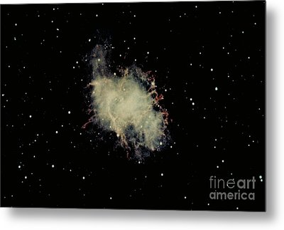 Crab Nebula Metal Print by Hale Observatories