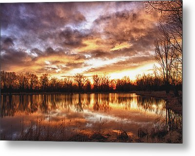 Crane Hollow Sunrise Boulder County Colorado Hdr Metal Print by James BO  Insogna