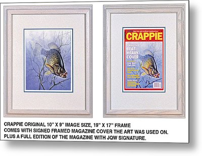 Crappie Magazine And Original Metal Print by JQ Licensing