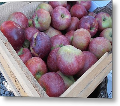 Crate Of Apples Metal Print by Kimberly Perry