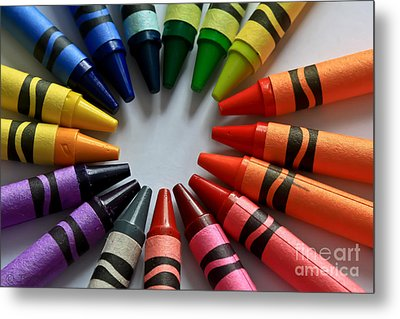 Crayola Color Metal Print by Tracy  Hall