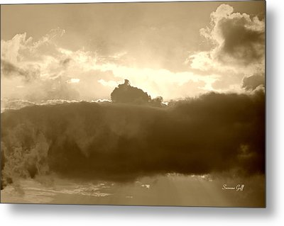 Creation In Sepia Metal Print by Suzanne Gaff
