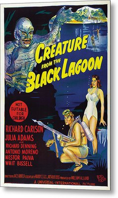 Creature From The Black Lagoon, Bottom Metal Print by Everett