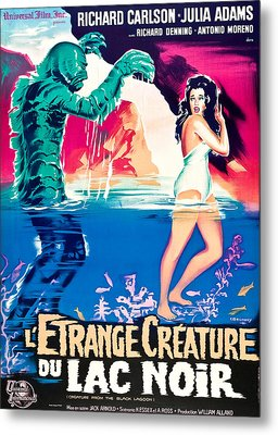 Creature From The Black Lagoon, On Left Metal Print by Everett
