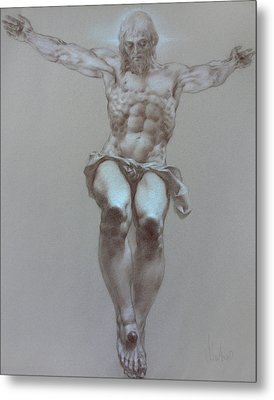 Crucifixion Metal Print by Valeriy Mavlo