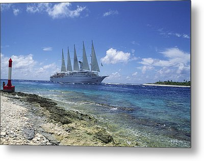 Cruise Ship Metal Print by Alexis Rosenfeld