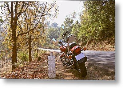 Cruiser In Autumn Metal Print by Kantilal Patel