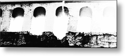 Crumbling Stonework  Metal Print by Howard Perry