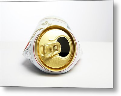 Crushed Beer Can Metal Print by Victor De Schwanberg