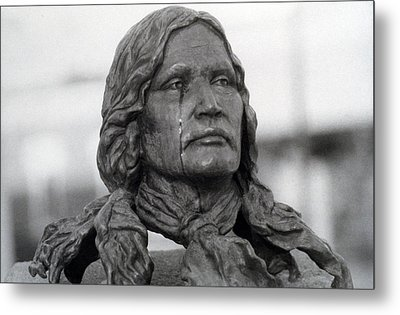 Crying Chief Niwot  Metal Print by James BO  Insogna