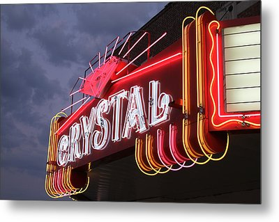 Crystal Theater Neon Metal Print by Tony Grider