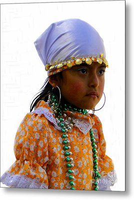 Cuenca Kids 199 Metal Print by Al Bourassa