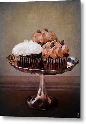 Cupcake Trio Metal Print by Jai Johnson
