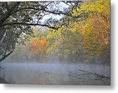 Current River Fall 44r Metal Print by Marty Koch