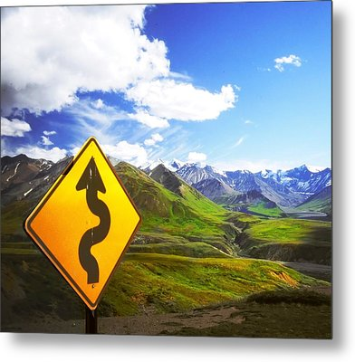 Curves Ahead Metal Print by Ulrich Mueller