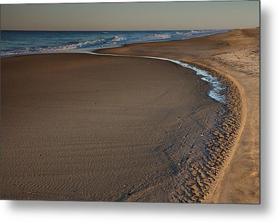 Curving To The Sea II Metal Print by Steven Ainsworth
