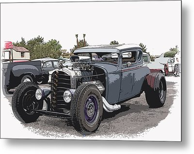Custom Model A Coupe Metal Print by Steve McKinzie