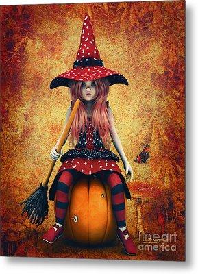 Cutest Little Witch Metal Print by Jutta Maria Pusl