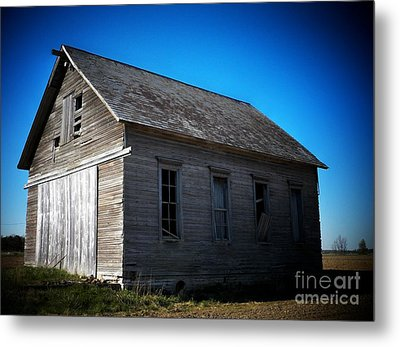 Daddys Old School House Metal Print by Joyce Kimble Smith