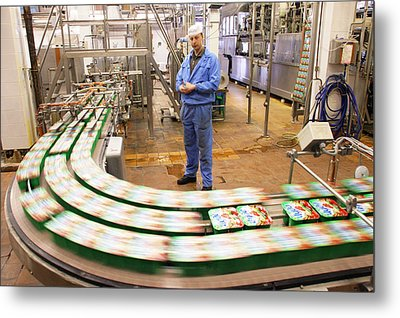Dairy Factory Production Line Metal Print by Ria Novosti
