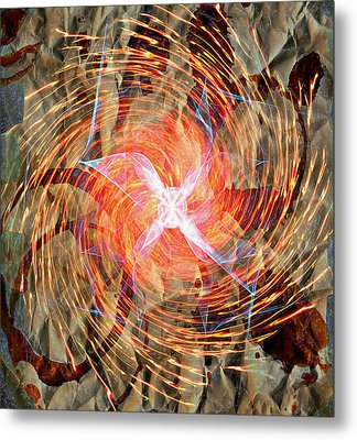 Dance Of Fires  Metal Print by JC Photography and Art