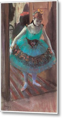 Dancer Leaving Her Dressing Room Metal Print by Edgar Degas