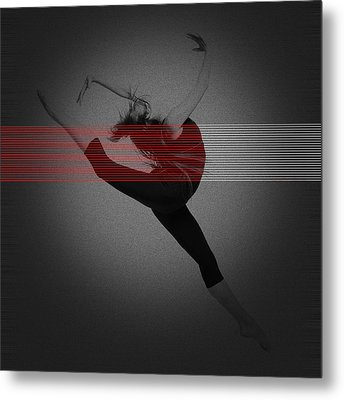 Dancer Metal Print by Naxart Studio