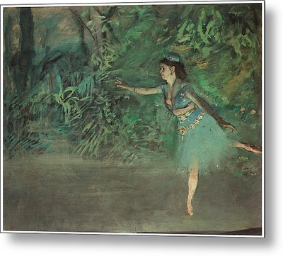 Dancer On The Stage Metal Print by Edgar Degas