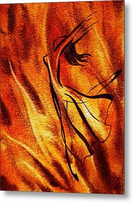 Dancing Fire Vi Metal Print by Irina Sztukowski