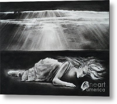 Darkness Falls Upon Me Metal Print by Carla Carson