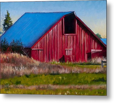 Darst Barn On West Beach Road Metal Print by Stacey Neumiller