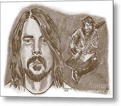 Dave Grohl Metal Print by Chris  DelVecchio