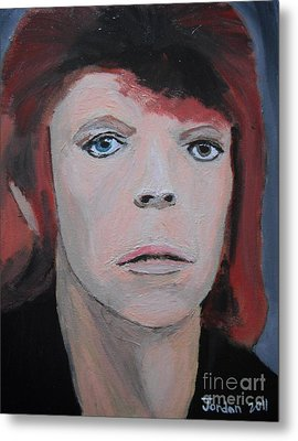 David Bowie The Early Years Metal Print by Jeannie Atwater Jordan Allen