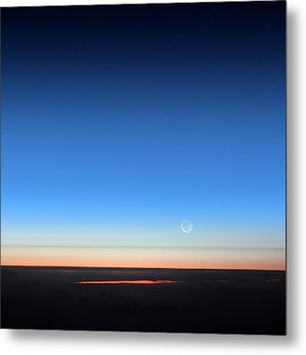 Dawn Seen From An Aeroplane Metal Print by Detlev Van Ravenswaay